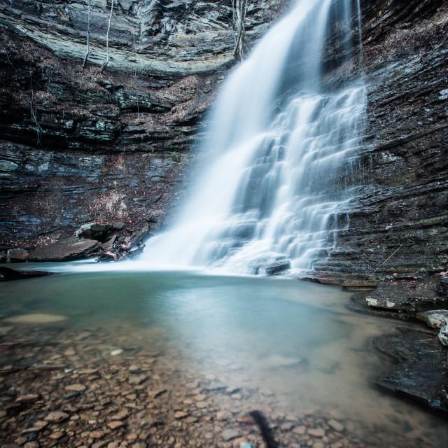 """Long Exposure Waterfall"" stock image"