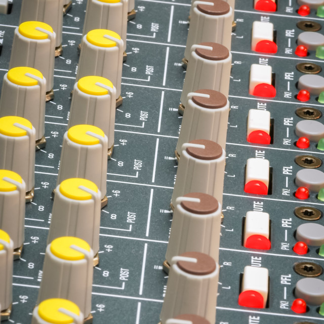 """soundboard dials"" stock image"
