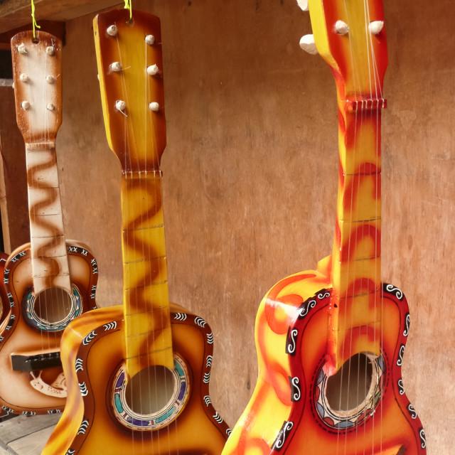 """minature guitars"" stock image"