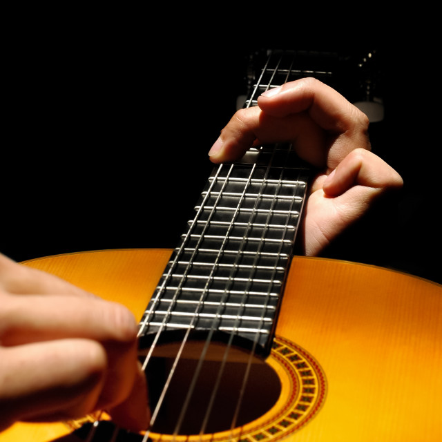 """spanish guitar"" stock image"