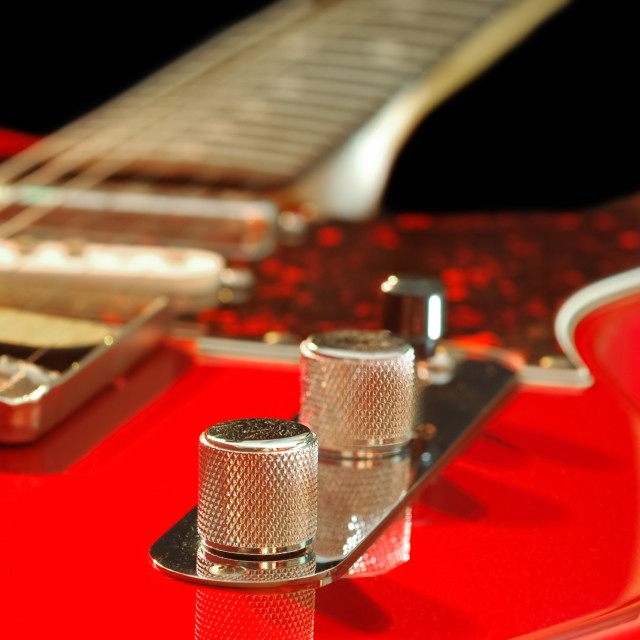 """red electric guitar"" stock image"