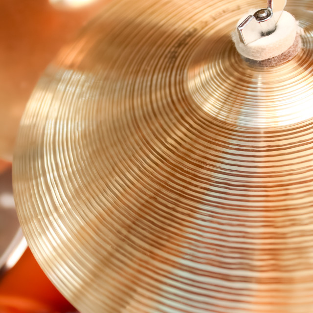 """drum cymbals"" stock image"