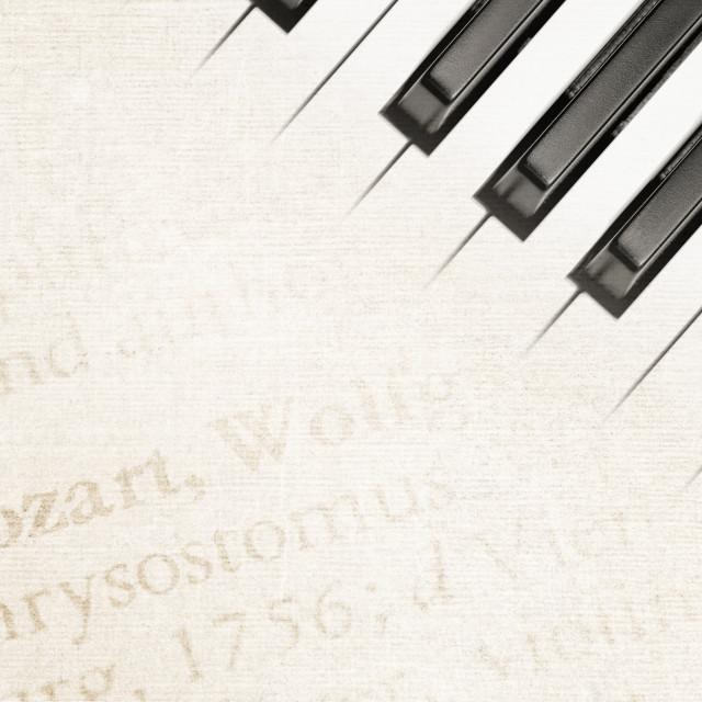 """mozart piano"" stock image"