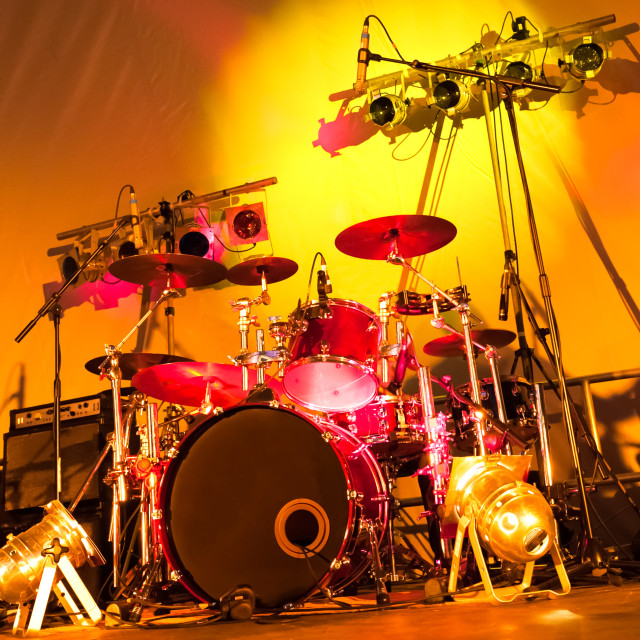 """drums and lights"" stock image"