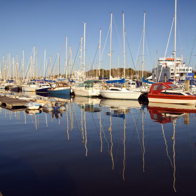 """England - Lymington Yacht Marina"" stock image"