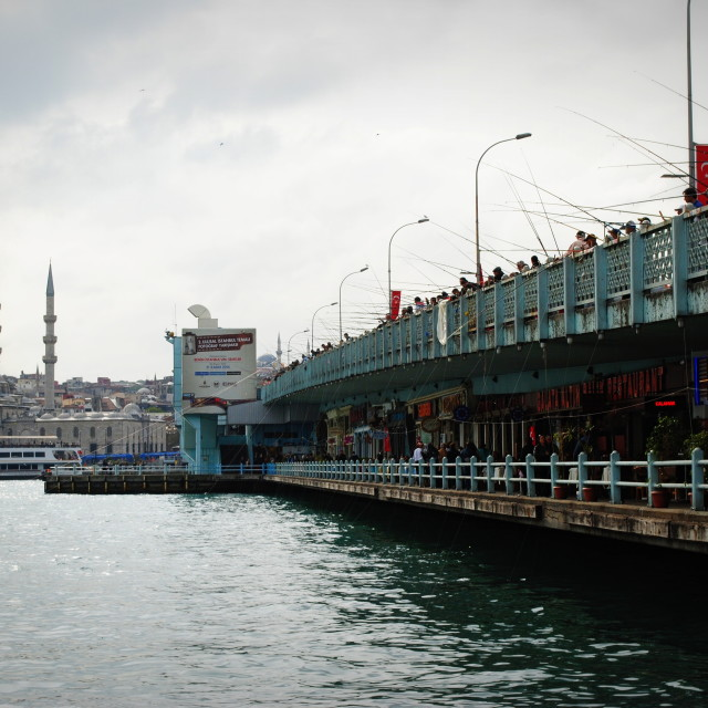 """Galata Bridge"" stock image"