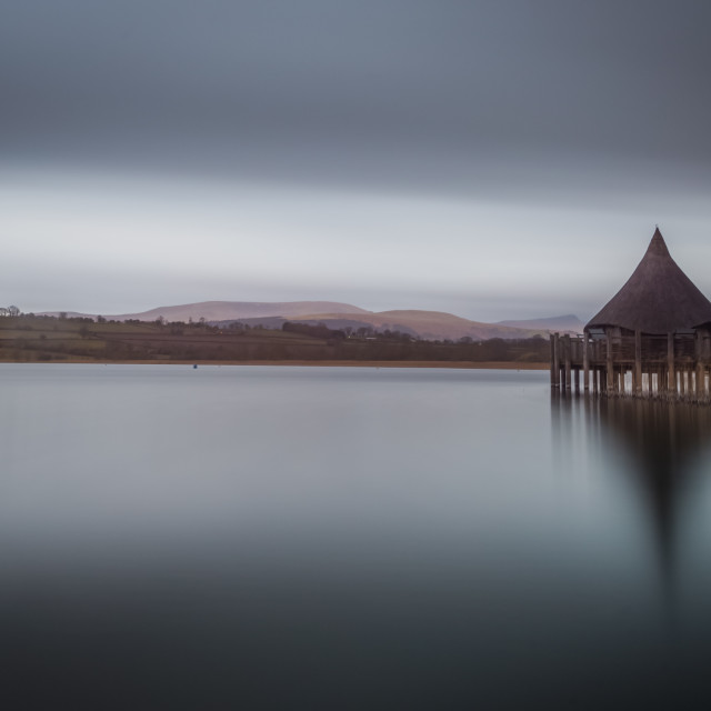 """Llangors Lake"" stock image"