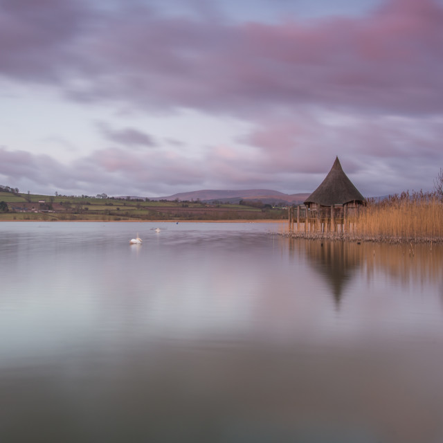 """Llangorse Lake"" stock image"