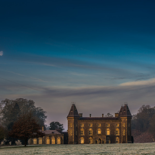 """Dawn on Newton House"" stock image"