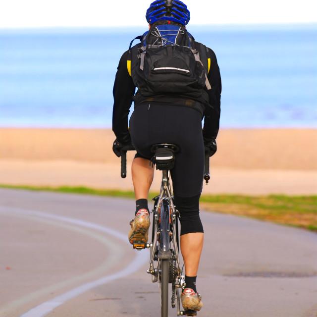 """Riding bicycle"" stock image"