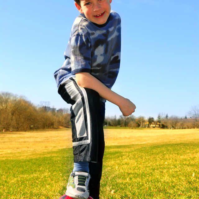"""""""Boy with soccer ball"""" stock image"""