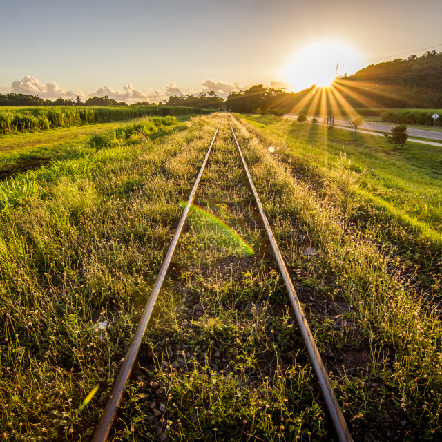 """Railroad Sunrise"" stock image"