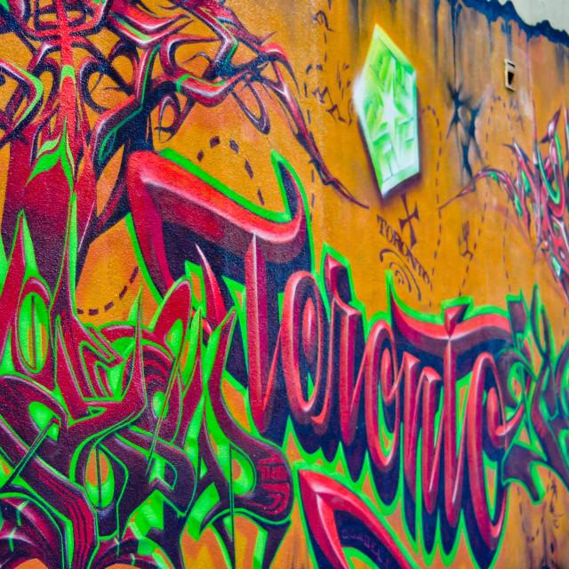"""Toronto's Graffiti Alley"" stock image"