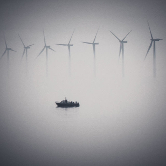 """Mysterious Fishing In The Fog"" stock image"