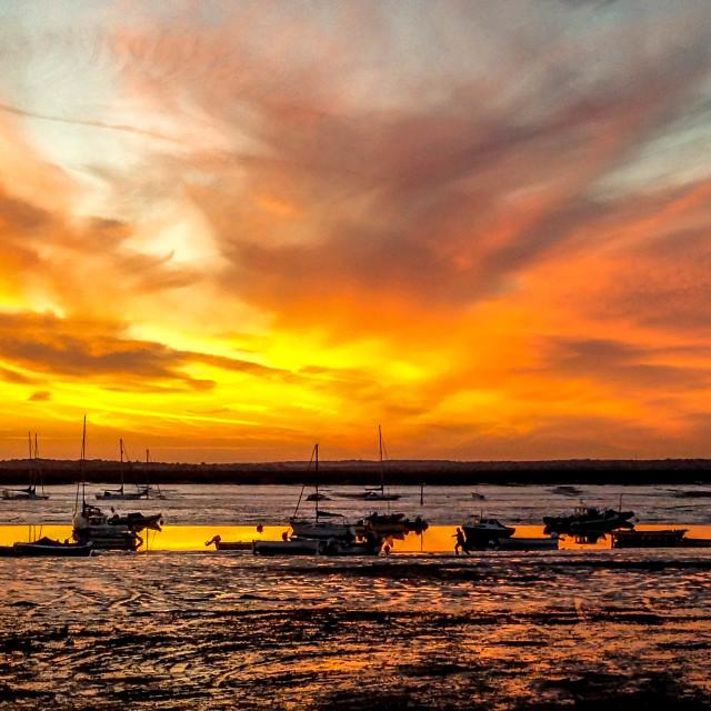 """""""Mersea Sunset"""" stock image"""