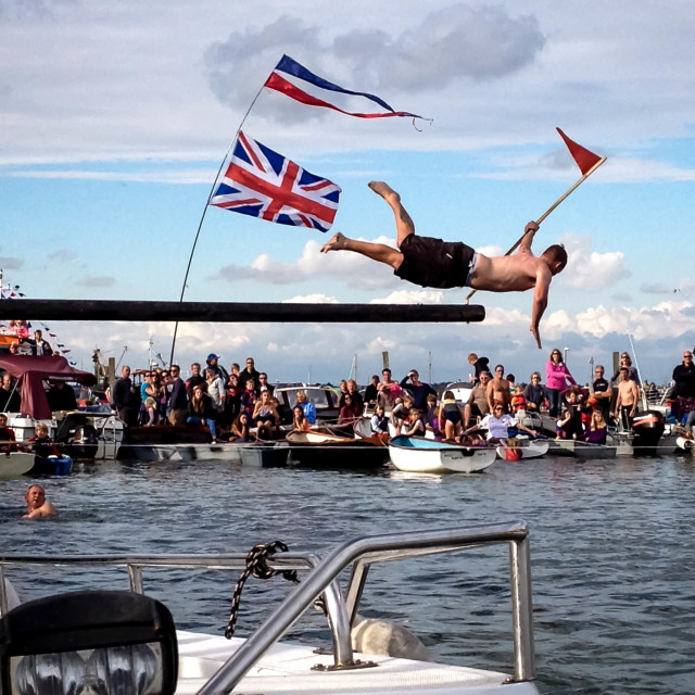 """Greasy Pole Winner"" stock image"