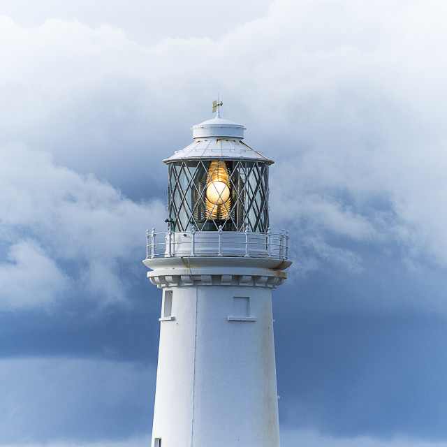 """""""Switched on light-house."""" stock image"""