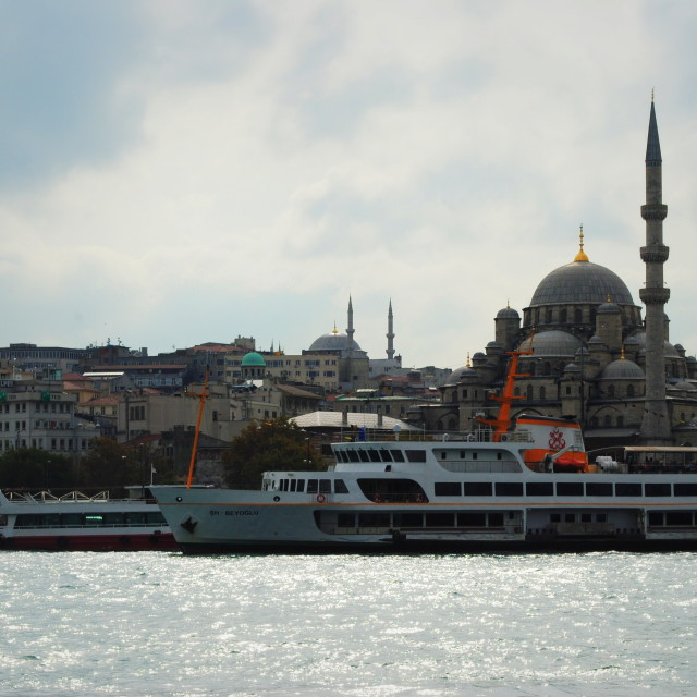 """View At Yeni Cami"" stock image"