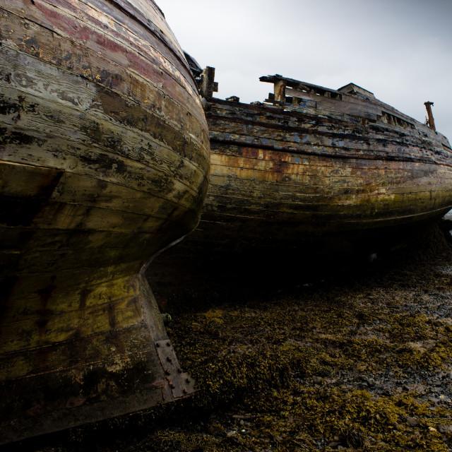 """""""Abandoned boats"""" stock image"""