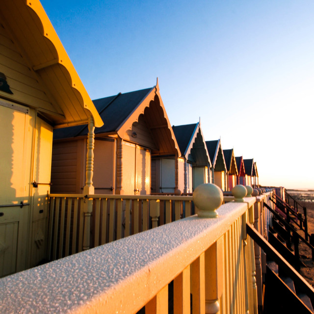 """Mersea beachhuts"" stock image"