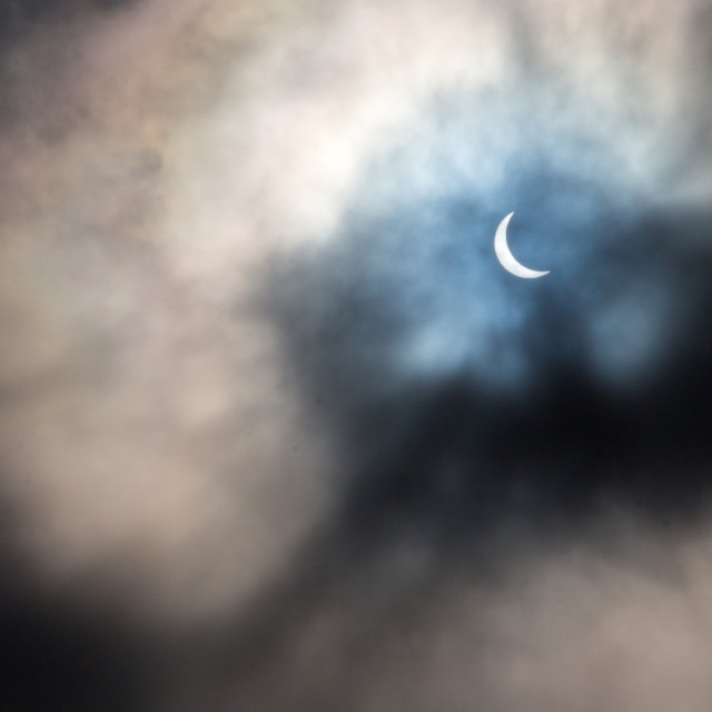 """Cloudy Cavan Eclipse"" stock image"