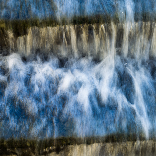 """""""Fast Flowing Water"""" stock image"""