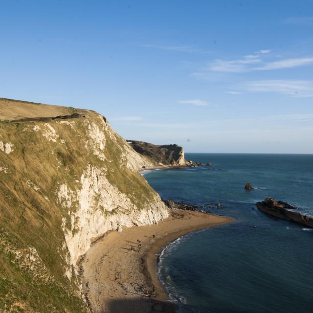 """Man o' War Beach, Dorset Coast"" stock image"