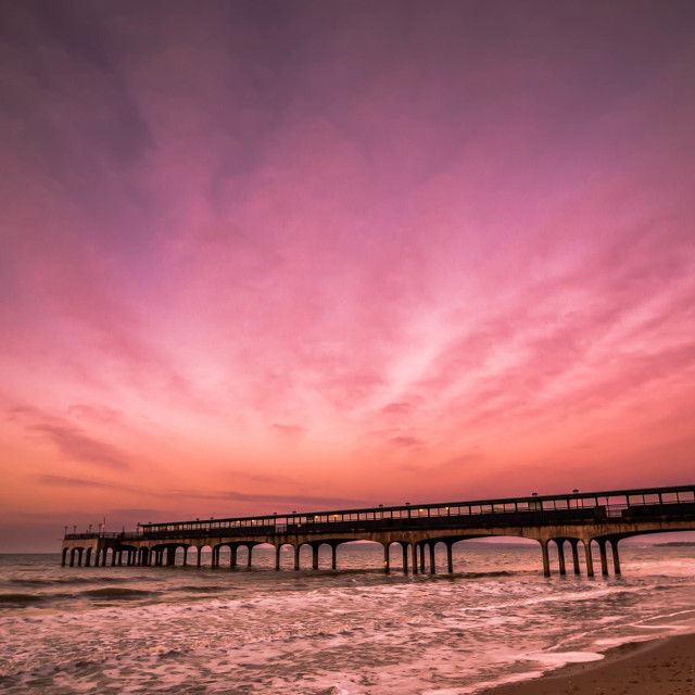 """sunrise at boscombe"" stock image"