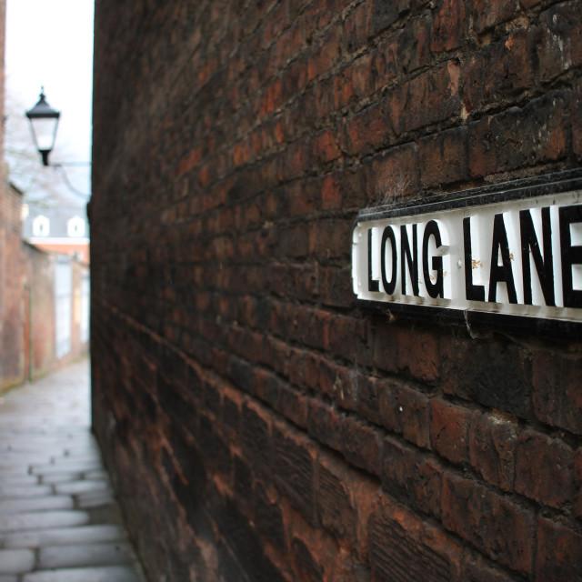 """A short shot on Long Lane"" stock image"