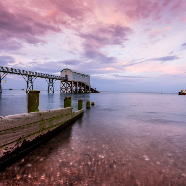 """Twilight at Selsey Bill"" stock image"