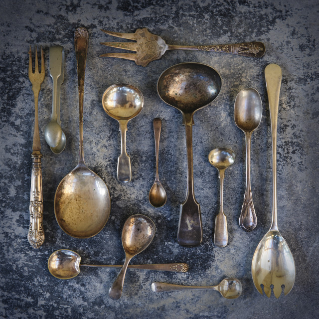 """Old Cutlery"" stock image"