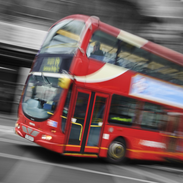 """Big Red London Bus"" stock image"
