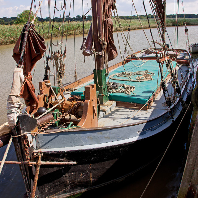 """Thames Barge"" stock image"