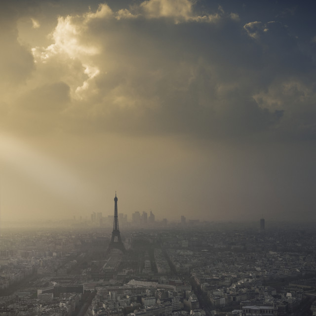 """Eiffel Tower skyscape"" stock image"