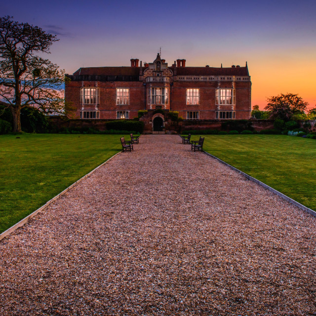 """Haunted Bramshill Mansion House"" stock image"