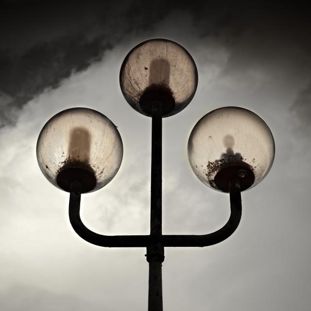 """""""Alien Streetlights 2"""" stock image"""