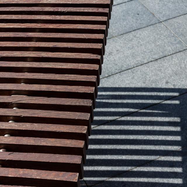 """Slatted Bench"" stock image"