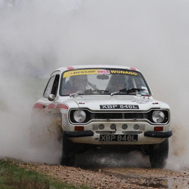 """Mk 1 Escort Rally car...."" stock image"