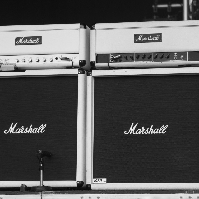 """Marshall Concert Amps"" stock image"
