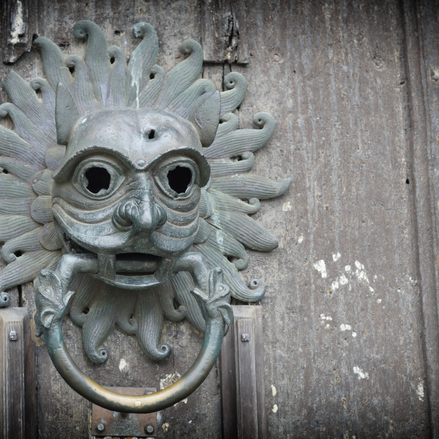 """Durham Cathedral Sanctuary Knocker"" stock image"