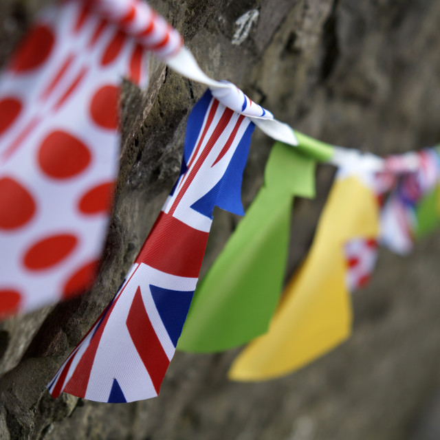 """Le Tour de France Yorkshire Bunting"" stock image"