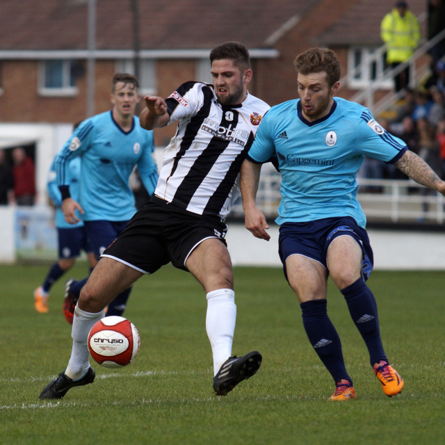 """Spennymoor Town FC v AFC Telford FA Cup"" stock image"