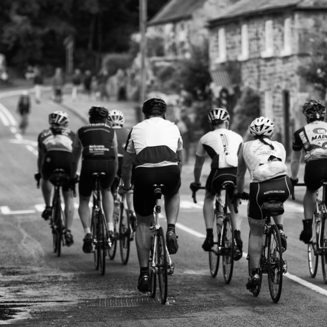 """Le Tour Yorkshire Cycling Group"" stock image"