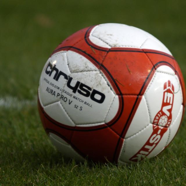 """Chryso Evo-Stik Match Ball"" stock image"