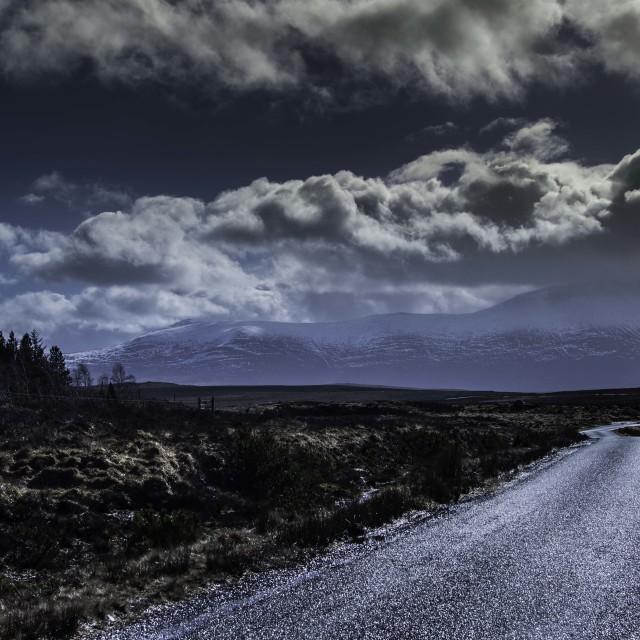 """Scottish road"" stock image"