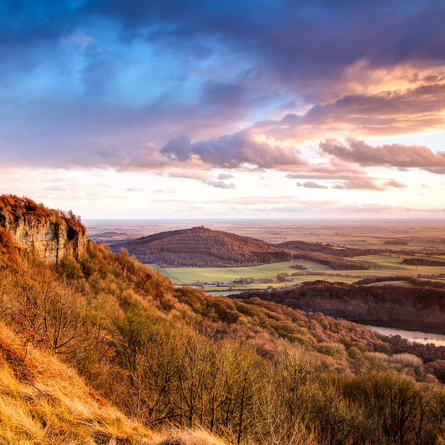 """Sutton Bank Sunset"" stock image"