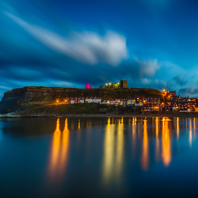 """Whitby Blue Hour"" stock image"