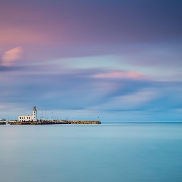 """Scarborough Harbour"" stock image"