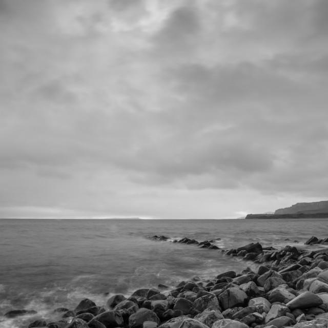 """Kimmeridge Bay"" stock image"