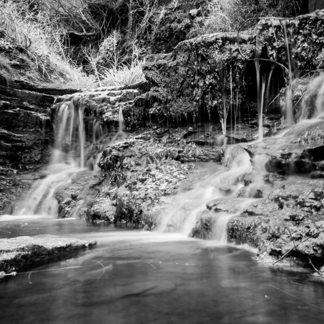 """Kimmeridge Waterfall"" stock image"